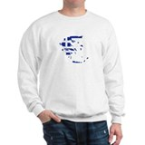 Greece map flag Sweater