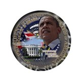 Obama Re-elected 3.5&quot; Button