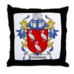 Leechman Coat of Arms Throw Pillow