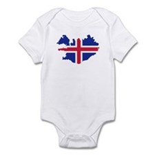 Iceland map flag Infant Bodysuit