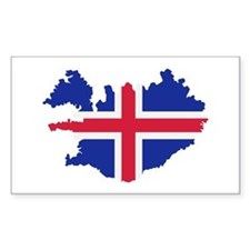 Iceland map flag Decal