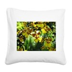 .yellow oncidium. Square Canvas Pillow