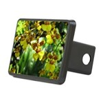 .yellow oncidium. Rectangular Hitch Cover