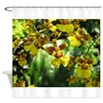 .yellow oncidium. Shower Curtain