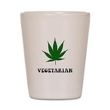 Vegetarian Weed Shot Glass