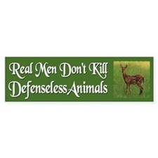Real Men Dont Hunt - Car Sticker