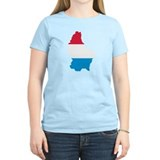 Luxembourg map flag  T-Shirt