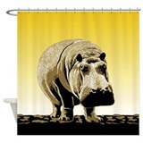 Happy Hippo Hippopotamus Shower Curtain