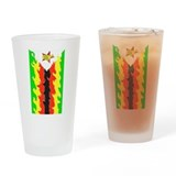 Zimbabwe Flag Drinking Glass