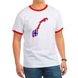 Norway map flag T