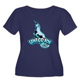 Cabin in the Woods Unicorn Women's Plus Size Scoop