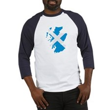 Scotland map flag Baseball Jersey