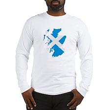 Scotland map flag Long Sleeve T-Shirt