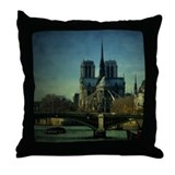 Notre Dame Paris Throw Pillow