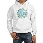 Peace & Flowers Hooded Sweatshirt