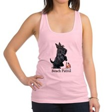 Scottish Terrier Beach Patrol Racerback Tank Top
