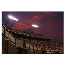 East Carolina Pictures Stadium Lights at Sunset