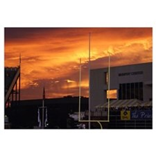 East Carolina Pictures Sunset at Dowdy Ficklen Sta