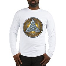 Norse Valknut - Yellow Long Sleeve T-Shirt