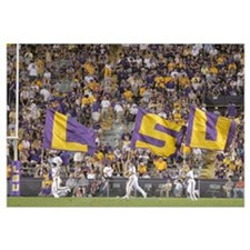 Louisana State University Pictures LSU Flags Fly o