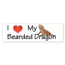 Luv My Bearded Dragon Bumper Bumper Sticker