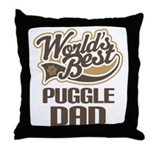 Puggle Dad Throw Pillow