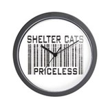 Shelter Cats Priceless Wall Clock