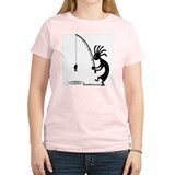 Kokopelli Fisherman Women's Pink T-Shirt