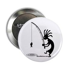 "Kokopelli Fisherman 2.25"" Button (10 pack)"
