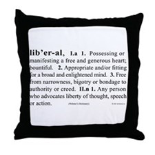 Liberal Throw Pillow