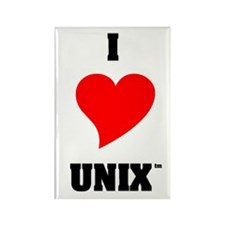 Unix Lovers Rectangle Magnet