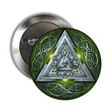 Norse Valknut - Green 2.25&quot; Button