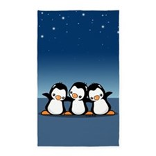 Penguins (together) 3'x5' Area Rug