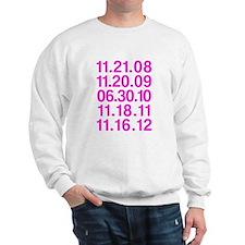 Twilight Opening Dates Sweatshirt