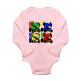 Funny Dirt track racing Long Sleeve Infant Bodysuit