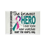 Bravest Hero I Knew Thyroid Cancer Rectangle Magne
