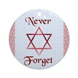 Never Forget Holocaust Hanukkah Ornament