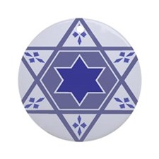 Blue Star Of David Hanukkah Ornament