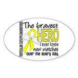 Bravest Hero I Knew Testicular Cancer Decal