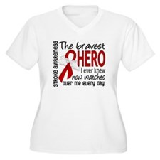 Bravest Hero I Knew Stroke T-Shirt