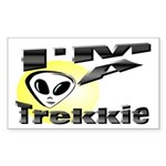 I'm A Trekkie Rectangle Sticker