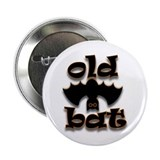 Halloween Old Bat Button