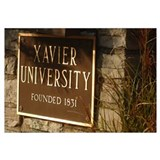 Xavier Photographs Embossed Plaque of Xavier Unive