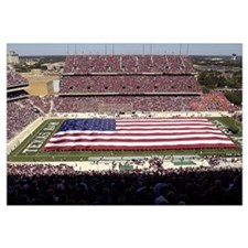 American Flag Spans Texas A and Ms Kyle Field