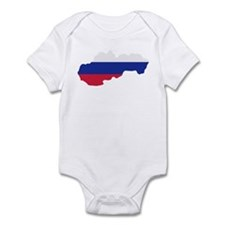 Slovakia map flag Infant Bodysuit