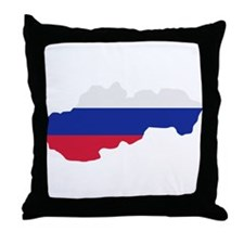 Slovakia map flag Throw Pillow
