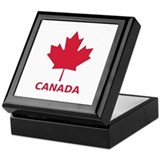 Canada maple leaf flag Keepsake Box