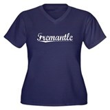 Fremantle, Vintage Women's Plus Size V-Neck Dark T