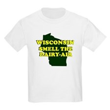 WISCONSIN SMELL THE DAIRY AIR Kids T-Shirt