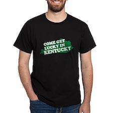KENTUCKY SHIRT GETTING LUCKY Black T-Shirt